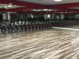 New flooring at Sebastian Fitness.