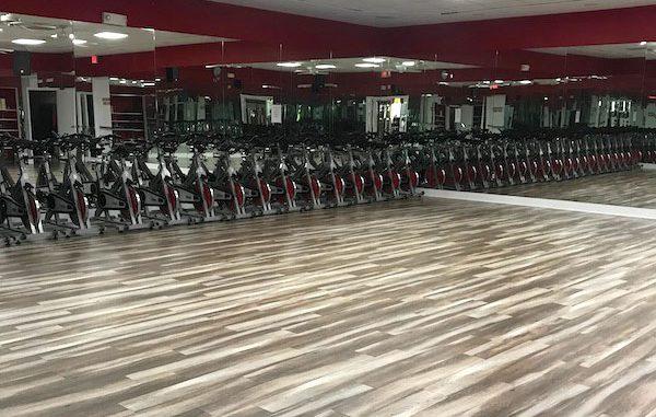 New flooring at Sebastian Fitness.