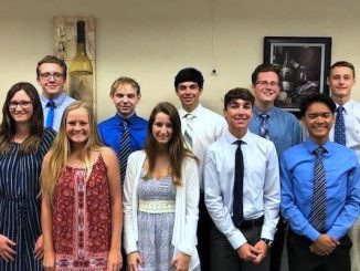 From left to right: Allison Pardon, James LaBranche, Skylar Carstairs (Salutatorian), Robert McCartney, Andrea Peterson, Shepard Smith, Matthew Perakes (Valedictorian), Connor Ford, Simon Casas, Ryan Wahl.