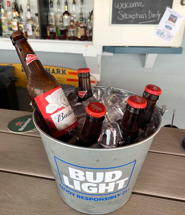 Bucket of Budweisers for $13
