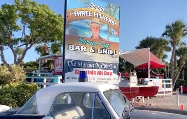 John Knudsen won two rib dinners at Jimmy Three Fingers in Micco, Florida.