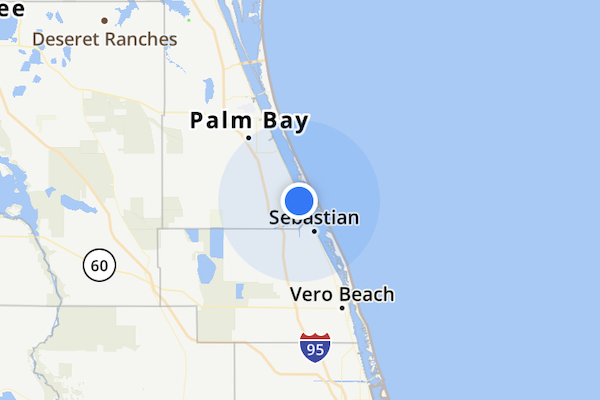 Rain this week for Sebastian, Florida.