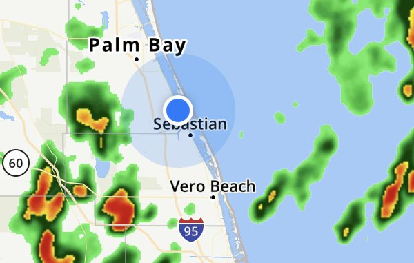 Thunderstorms this weekend in Sebastian, Florida.