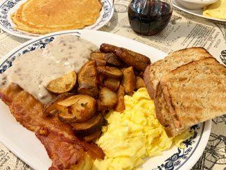 Breakfast at Sebastian's Roadside Restaurant in Sebastian, Florida.