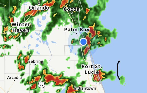 Significant Weather Advisory for Sebastian, Florida.
