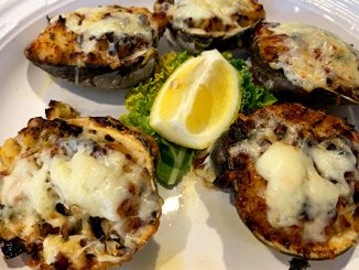 Stuffed Clams at Chubby Mullet in Micco, Florida.