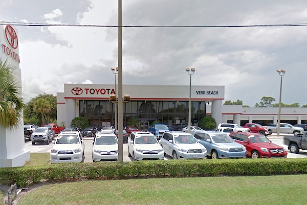 Vero Beach Toyota >> Customer S Vehicle Disappears From Toyota Of Vero Beach