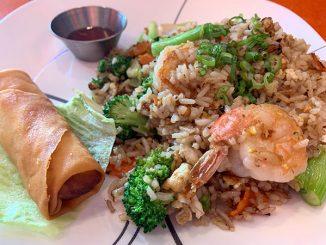 Fried rice and shrimp at Koji Japanese and Thai Restaurant in Sebastian, Florida.
