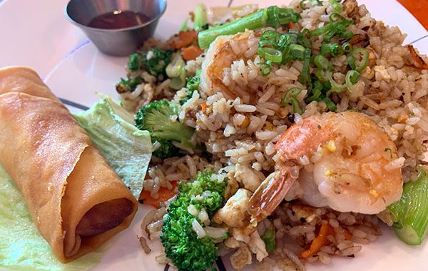 Fried rice and shrimp at Koji Japanese and Thai Restaurant in Sebastian, Florida.