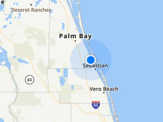 Weather radar in Sebastian, Florida.