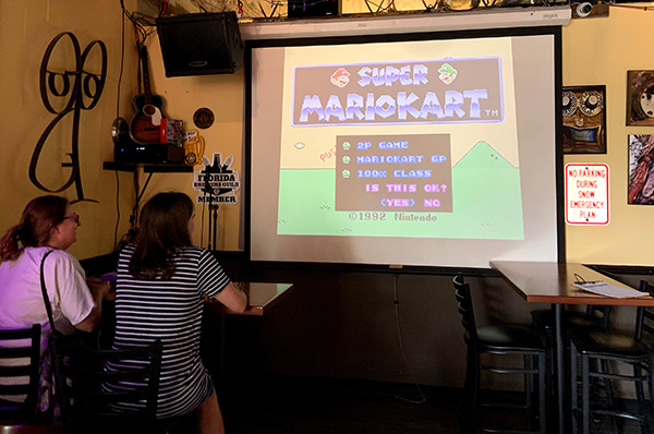 Super Mario Kart is one of the games being played at Pareidolia Brewing Co in Sebastian, Florida.