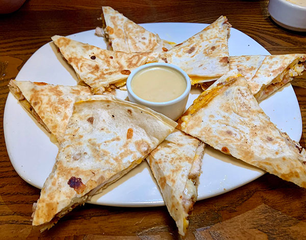 Alice Springs Chicken Quesadillas Appetizer