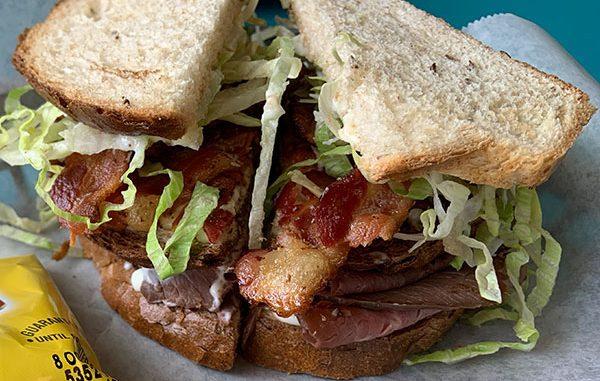 Club sandwich at Sandwich Shack in Sebastian, Florida.