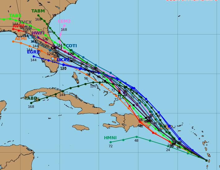 Tropical Storm Dorian Spaghetti Models