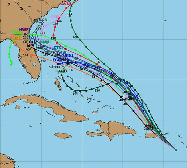 Hurricane Dorian Spaghetti Models