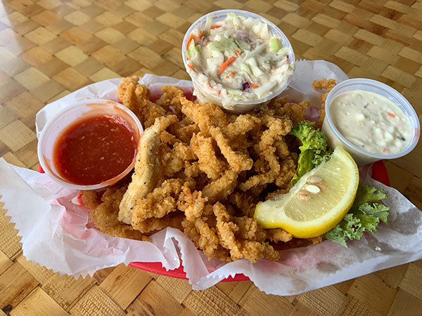 Fried Clam Basket at Squid Lips.