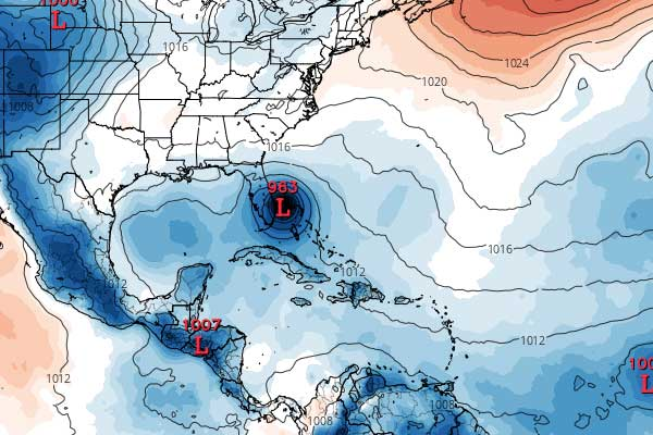 GFS hurricane model