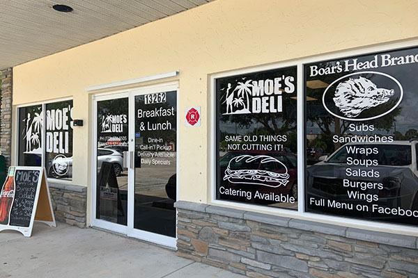 Moe's Deli in Sebastian, Florida.