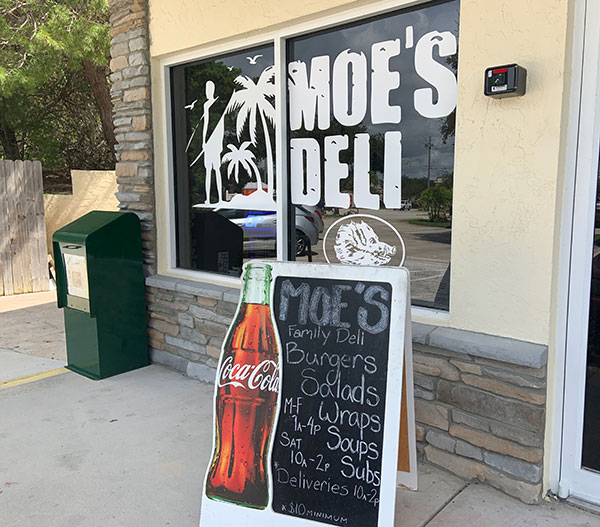 Moe's Deli is doing a soft opening.