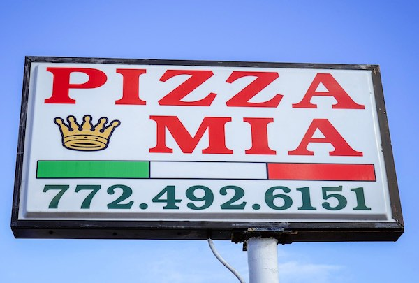 Pizza Mia in Vero Beach, Florida.
