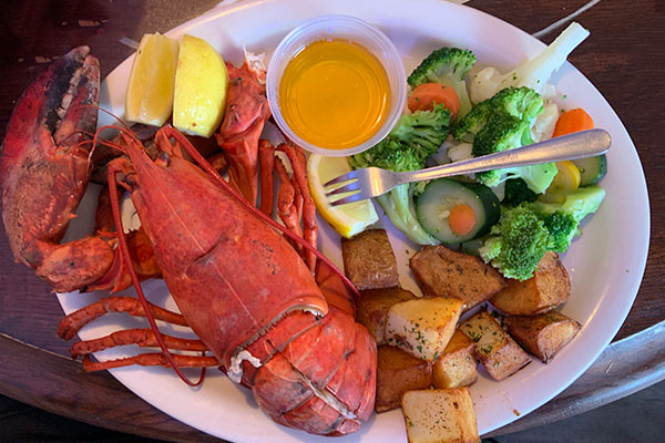 Maine Lobster at Portside Pub & Grille in Sebastian, Florida.