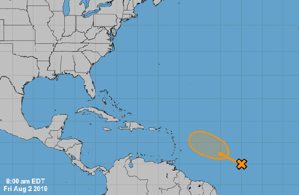 Tropical disturbance in the Atlantic Ocean does not pose any threat to Sebastian or Florida at this time.