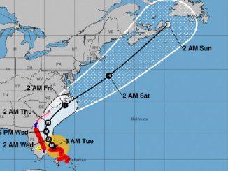 Hurricane Dorian spares Sebastian, Florida.