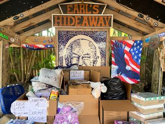Donations for Hurricane Dorian victims in the Bahamas are being accepted at Earl's Hideaway Lounge in Sebastian, Florida.