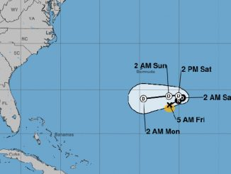 Tropical Storm Karen to dissipate in about four days.