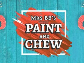 Mrs. BB's Paint & Chew, at the Crab Stop in Sebastian, Florida.