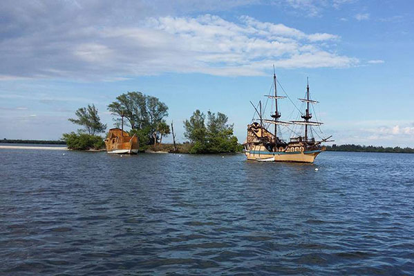 Pirate Invasion at The Old Fish House in Grant, Florida.
