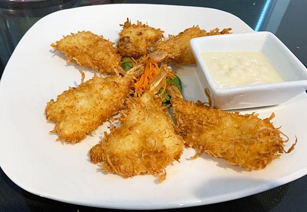 Taste of Asia review of Coconut Shrimp in Sebastian, Florida.