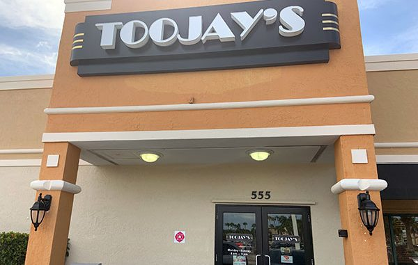 TooJay's lunch review in Vero Beach, Florida.