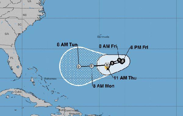 Tropical Storm Karen is expected to weaken as it gets closer to Sebastian, Florida.