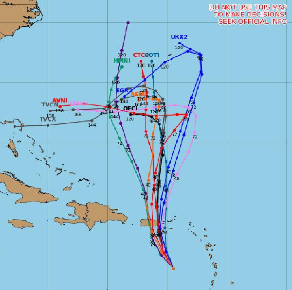 Tropical Storm Karen spaghetti models.