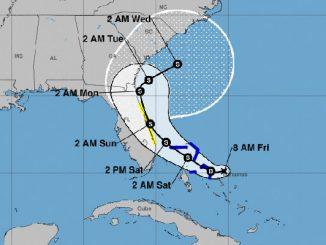 Tropical storm watch for Sebastian, Florida.