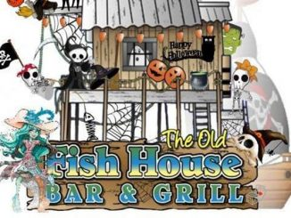 The Old Fish House Halloween costume party in Grant, Florida.