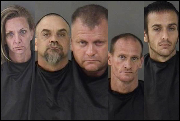 Suspects arrests in search warrants in Roseland and Sebastian, Florida.