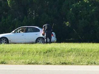 Sebastian police officer helps disabled motorist.