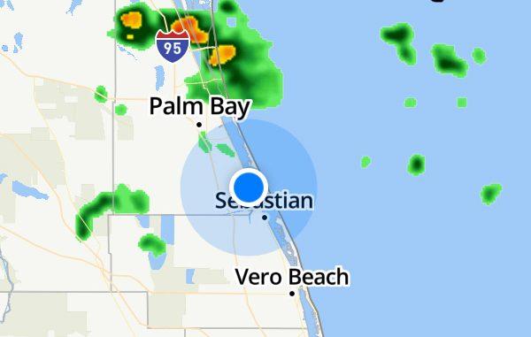 Rain this week in Sebastian, Florida.