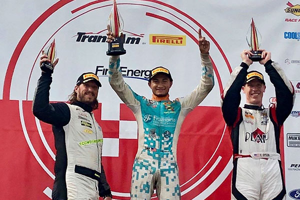 Trans Am drivers Adam Andretti, Ernie Francis Jr, and Chris Dyson.