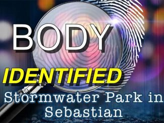 Body identified by police at Stormwater Park in Sebastian, Florida.