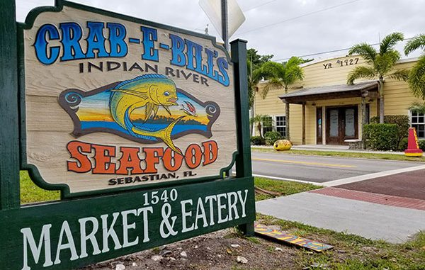 Crab E Bills Seafood Market and Eatery in Sebastian, Florida.