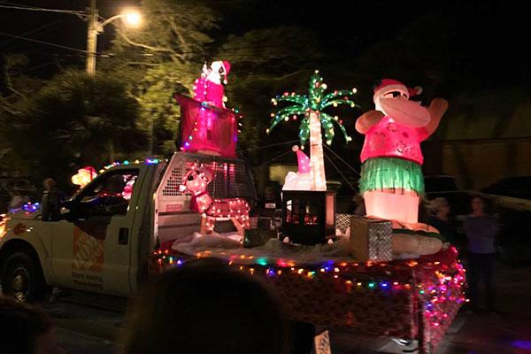 Annual Christmas Parade in Sebastian, Florida.