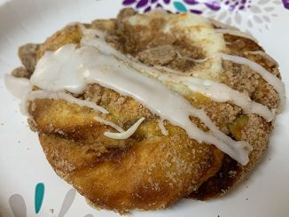 A stale cheese Danish at Holy Cannoli in Barefoot Bay, Florida.