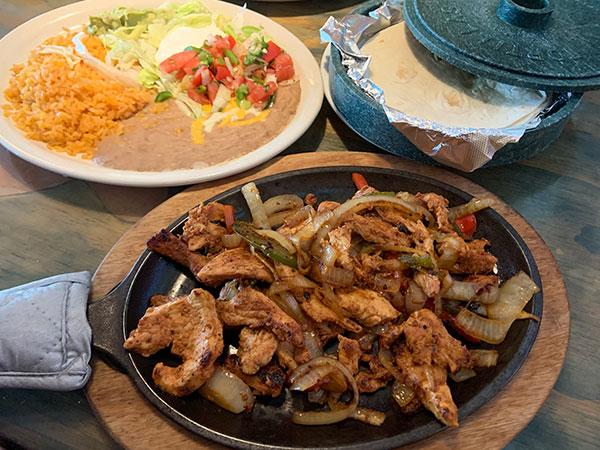 Chicken Fajitas lunch.