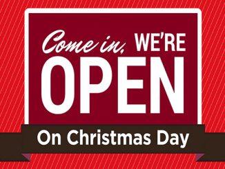 Restaurants and bars open on Christmas Day in Sebastian, Florida.