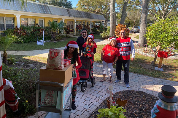 Christmas for Seniors by local businesses.