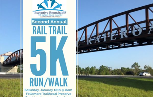 The Executive Roundtable of Indian River County will host the Rail Trail 5K Run/Walk in Fellsmere, Florida.