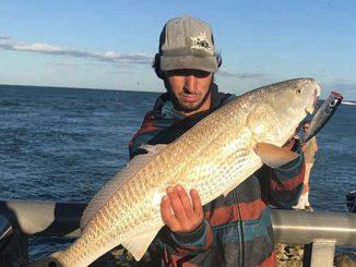 Jacob Barker caught a redfish at the Sebastian Inlet.